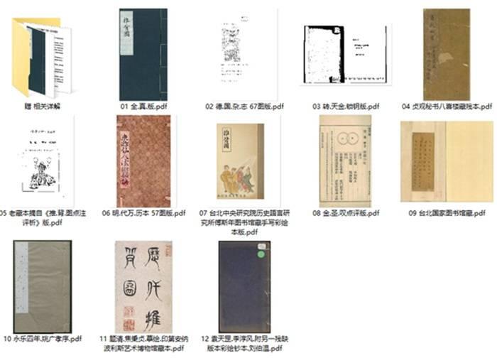 《推背图》历代12个版本 合集